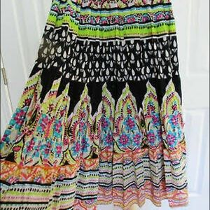 Colorful Vintage Long skirt size M